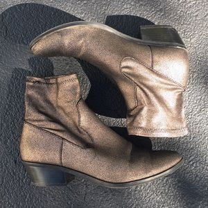American Eagle bronze heeled booties